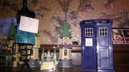 will sell for 2 dollars (observe the giant Tardis that has come to Hogwarts)