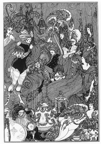 """The Cave of Spleen"" by Aubrey Beardsley, based on Alexander Pope's ""Rape of the Lock."""
